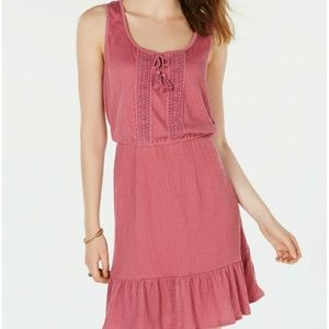 Ruffled-Hem Peasant Dress